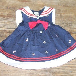 Nautical Sailor Classic Dress 6M * Starting Out
